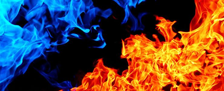 赤と青の炎