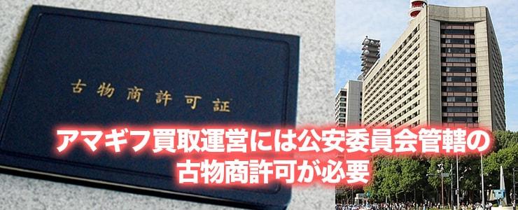 公安委員会発行の古物商営業許可
